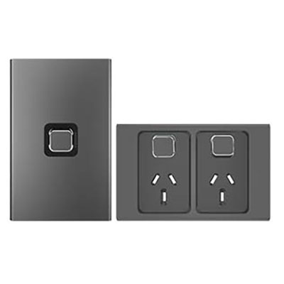 Iconic Styl Crowne light switch and power point
