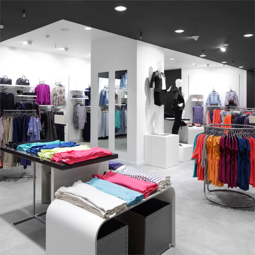 Modern clothes store